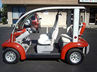 Ford Think Neighbor : Orange 4 Seater | Golf Cart : LSV Carts